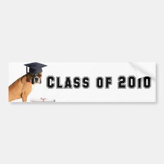 Class of 2010 Boxer graduate bumper sticker