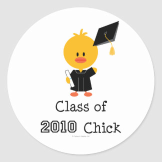 Class Of 2010 Chick Stickers