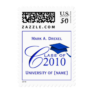 Class of 2010 Custom Postage Stamps with Name