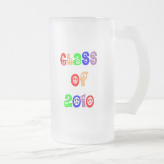 Class of 2010 frosted glass beer mug