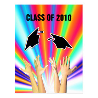 Class of 2010 Graduation Caps and Hands Postcard