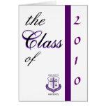 class of 2010 graduation invitation greeting card