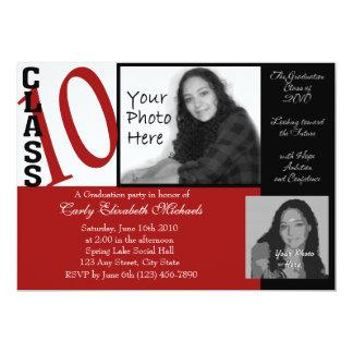 Class of 2010 Graduation/ Red Custom Invites