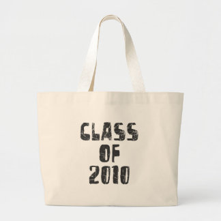 CLASS OF 2010 GRAY GRUNGE LARGE TOTE BAG