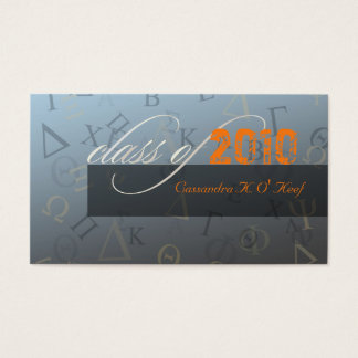 Class of 2010 ~ Greek alphabets profile card
