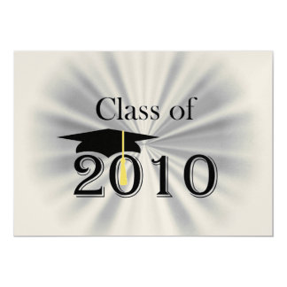 Class of 2010 5x7 paper invitation card