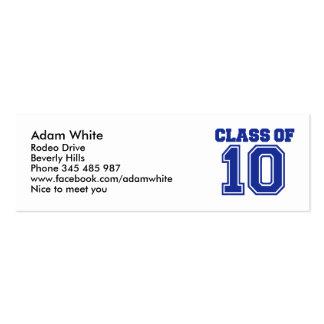 Class of 2010 mini business card