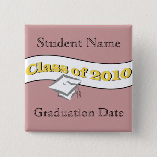 Class of 2010 pinback button