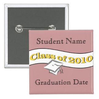 Class of 2010 pinback button