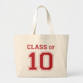 Class Of 2010 - Red Large Tote Bag