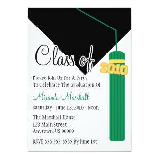 Class Of 2010 Tassel Graduation Invitation (Green)