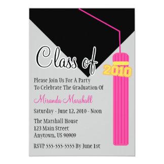 Class Of 2010 Tassel Graduation Invitation (Pink)