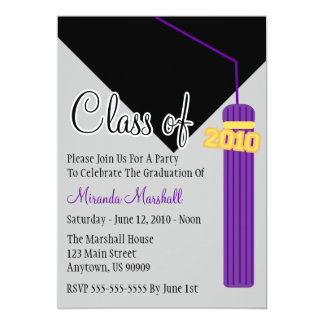 Class Of 2010 Tassel Graduation Invitation (Purpl)
