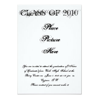 CLASS OF 2010 , You are invited to attend the g... Personalized Invitations