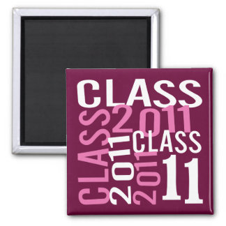 Class of 2011 2 inch square magnet