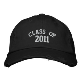 CLASS OF 2011 Black Embroidered Hat