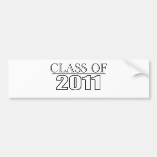 Class of 2011 bumper sticker