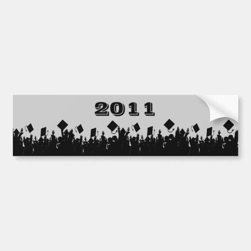 Class of 2011 BumperSticker ChooseBkGrd/Year/color Car Bumper Sticker