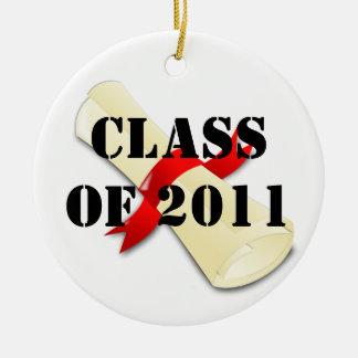 Class of 2011 ceramic ornament