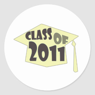 Class of 2011 classic round sticker