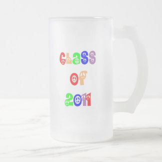 Class of 2011 frosted glass beer mug