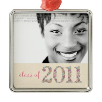 Class of 2011 Girls Senior Photo Pictures Ornament ornament