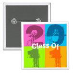 Class Of 2011 Graduation Button Square Box 3