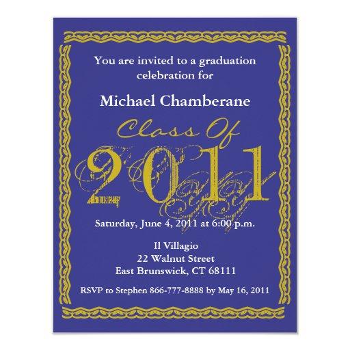 "Class Of 2011 Graduation Invitation EB162 4.25"" X 5.5"" Invitation Card"