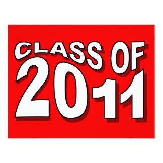 Class of 2011 Graduation Invitation F317 Neon