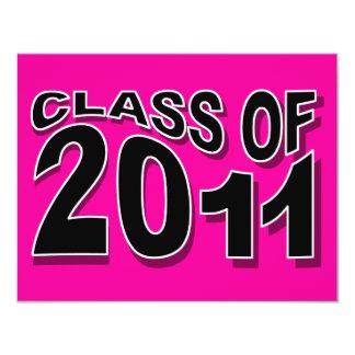 Class of 2011 Graduation Invitation F319 Neon