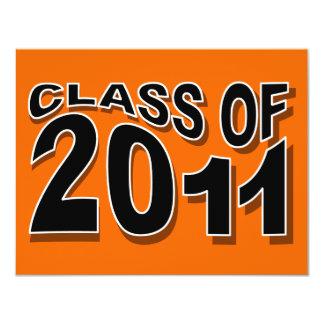 Class of 2011 Graduation Invitation F321 Neon