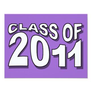 Class of 2011 Graduation Invitation F322 Neon