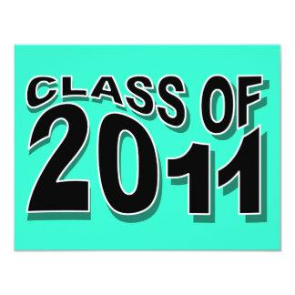 Class of 2011 Graduation Invitation F323 Neon