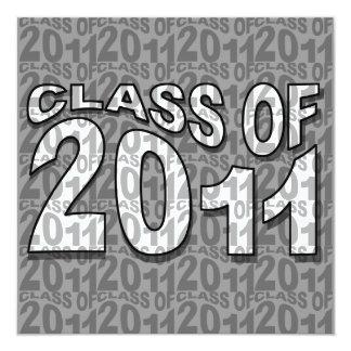 Class Of 2011 Graduation Invitation TXT264 Grey