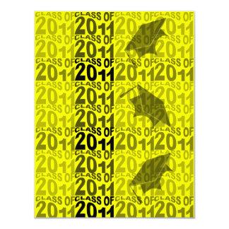Class Of 2011 Graduation Invitation TXT271 Yellow