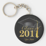 Class of 2011 Graduation Key-Chain (blk & gold) V1 Key Chains