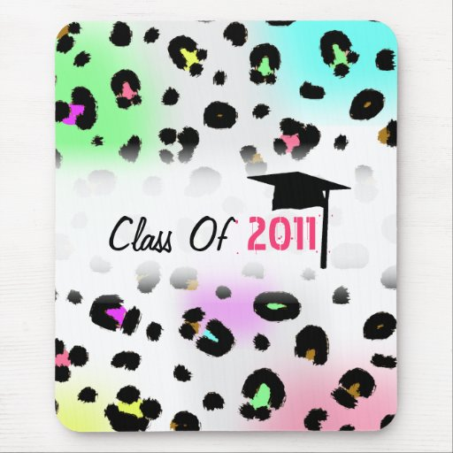 Class Of 2011 Graduation - Neon Airbrush Leopard Mouse Pad