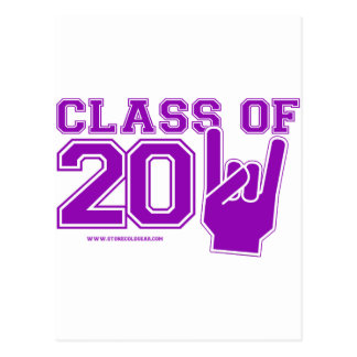 Class of 2011 graduation purple and white postcard