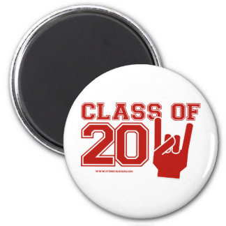 Class of 2011 graduation red and white magnet