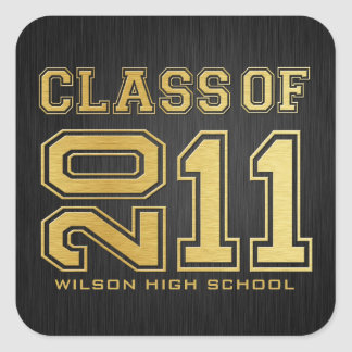 Class of 2011 Graduation Stickers (black/ gold)