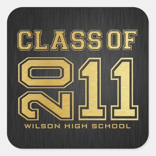 Class of 2011 Graduation Stickers (black/ gold)