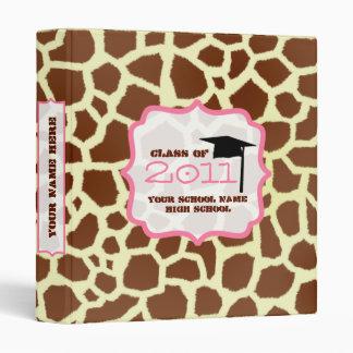 Class of 2011 Graudation Binder - Giraffe & Pink