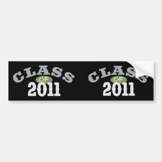 Class Of 2011 Green Bumper Sticker