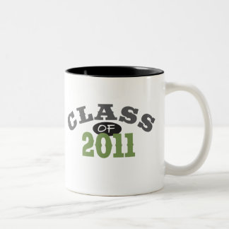 Class Of 2011 Green Two-Tone Coffee Mug