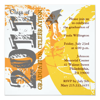 Class of 2011 Invitation AOYQ214 Orange Paint