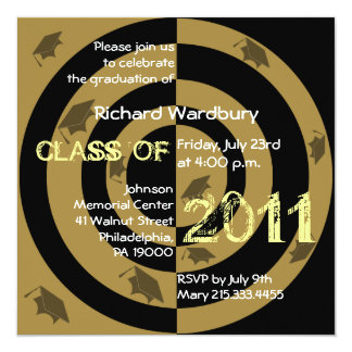 Class of 2011 Invitation CG220 Gold Circle