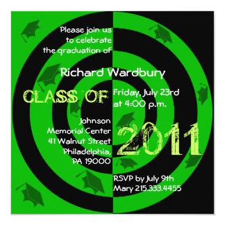 Class of 2011 Invitation CG222 Green Circle