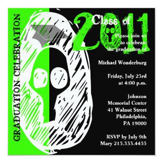 Class of 2011 Invitation SKGQ209 Skull Green
