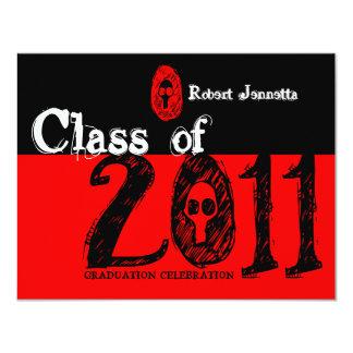 Class of 2011 Invitation SKR204 Skull Red