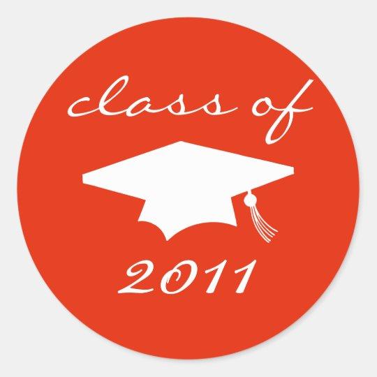 Class Of 2011 Label (Red Graduation Cap)
